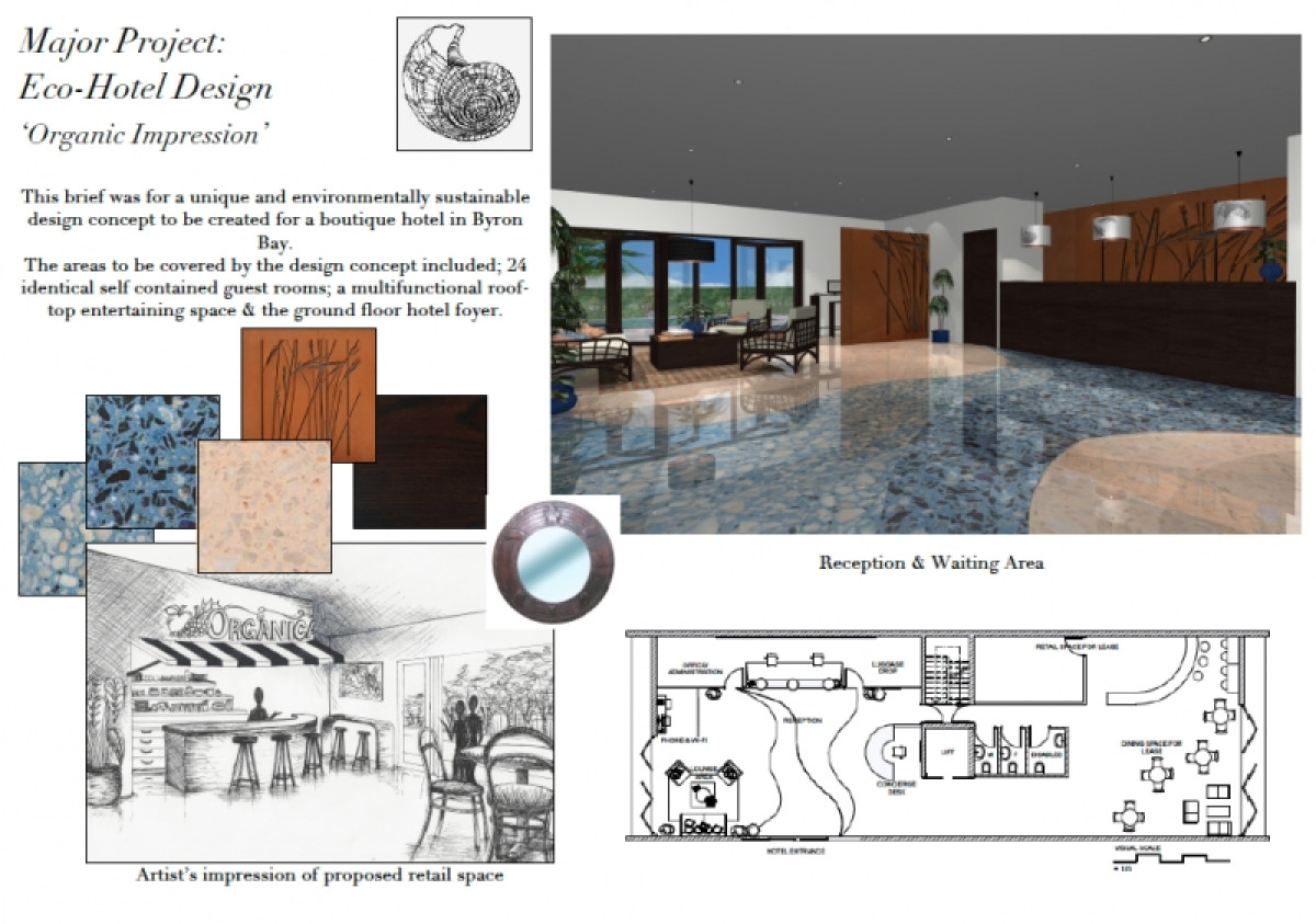 Commercial Design Eco Hotel Emma Trevillien Portfolio The Loop