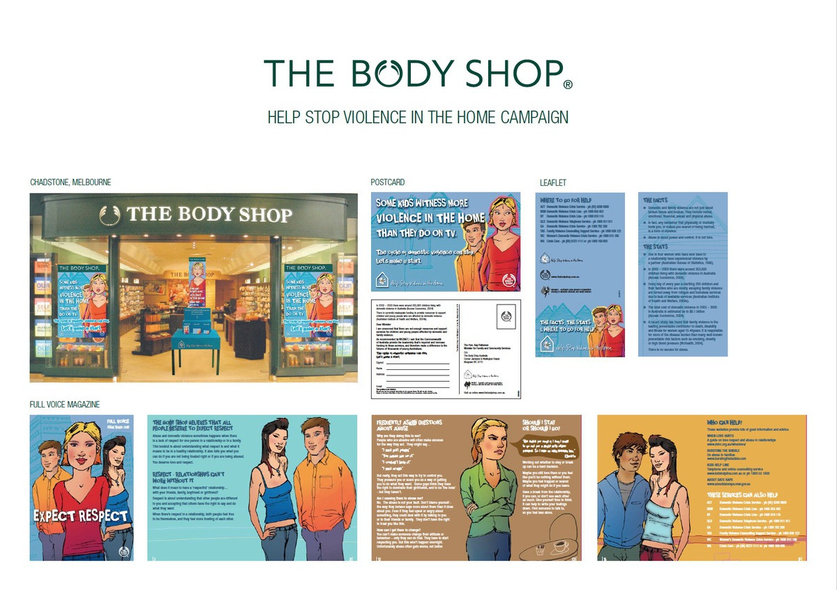 Help Stop Violence in the Home Campaign - The Body Shop - Liza Rose